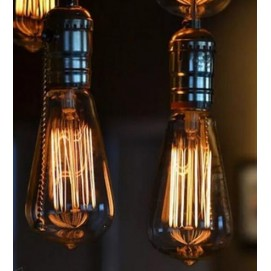 Лампа Эдисона ST64 E27 Amber янтарное стекло