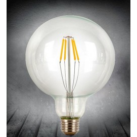 LED лампочка Эдисона G125 4W 1800K Clean прозрачное стекло