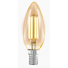 LED лампочка Эдисона C35 4W 2200K Amber янтарное стекло