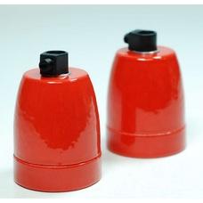 Керамический патрон в красной глянцевой глазури X-ed