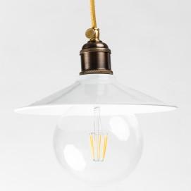 Лампа подвесная конус 22см. белая 740-1 PikArt