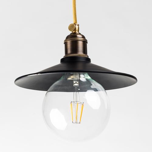 Лампа подвесная конус 22см. черная740 PikArt