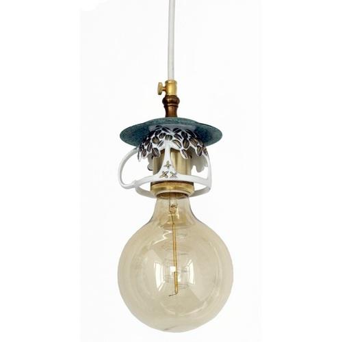 Лампа подвесная  COFFEE, арт. 2370-1 белая Pikart