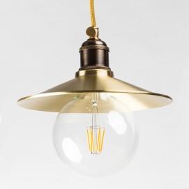 Лампа подвесная конус 22см, латунь 610-2 PikArt