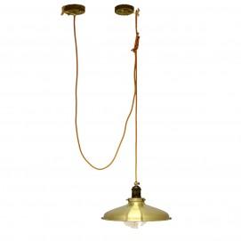 Лампа подвесная  конус 31.5см, золото 608-2 PikArt