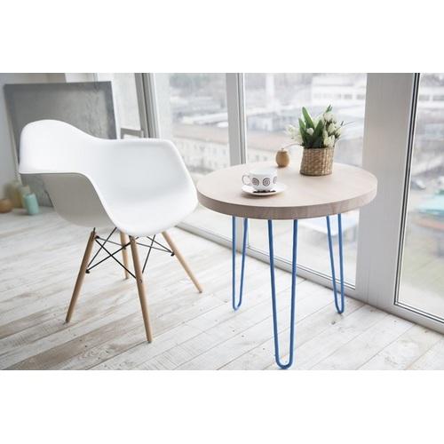 Стол кофейный CIRCLE SMALL (D600, 2ROD) Hairpinlegs голубой