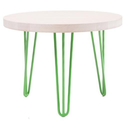 Стол кофейный CIRCLE SMALL (D600, 3ROD) HairpinlegsUA зеленый