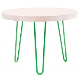 Стол кофейный CIRCLE SMALL (D600, 2ROD) HairpinlegsUA зеленый