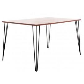 Стол обеденный SQUARE BIG (1200x700, 3ROD) натуральный HairpinlegsUA ноги черные