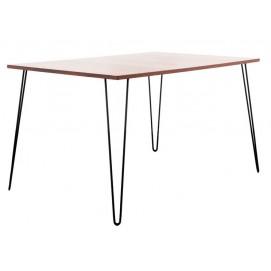 Стол обеденный SQUARE BIG (1200x700, 2ROD) натуральный HairpinlegsUA ноги черные