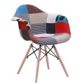 Кресло Salex FB Wood Patchwork цветное ноги дерево 512019 Famm