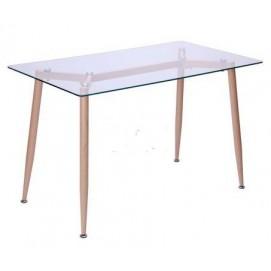 Стол обеденный Tilia Каркас бук/стекло прозрачное 513099 Famm