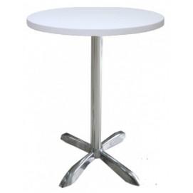 Стол пластиковый Санни, цвет белый, диаметр 70 см, высота 73 см Mebelmodern