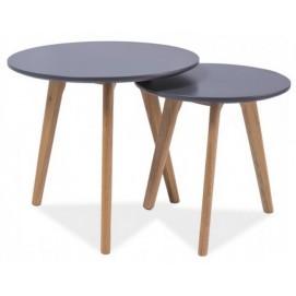 Набор столиков 2 шт Milan S2 серый Signal