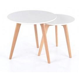 Набор столиков 2 шт Milan S2 белый Signal