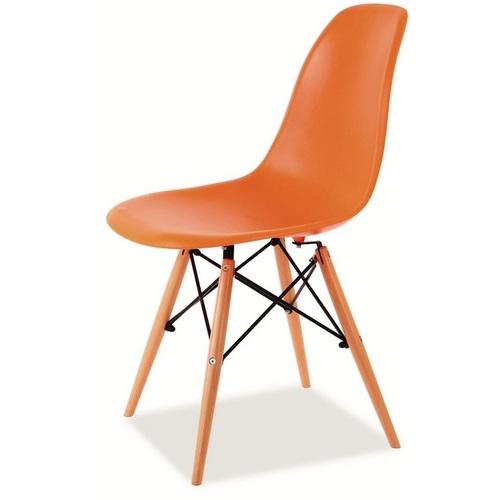 Стул Enzo оранжевый ноги дерево Signal