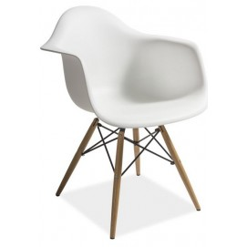 Кресло Mondi белое ноги дерево Signal