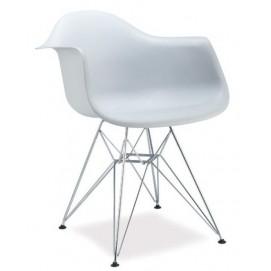Кресло Megan белое ноги металл Signal