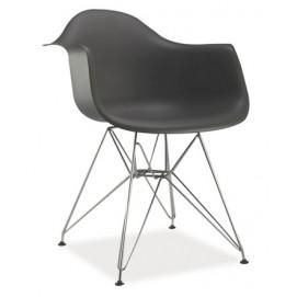 Кресло Megan черное ноги металл Signal