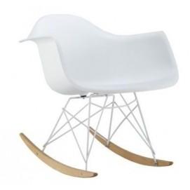Кресло качалка Mondi II белое ноги дерево Signal