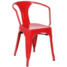 Кресло Tolix MC-005A красное Primel