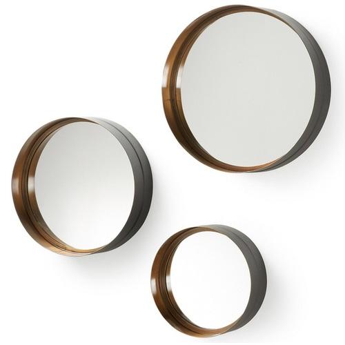 Набор зеркал AA0137R83 - WILSON Set 3 шт черное+золото Laforma