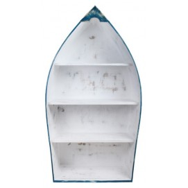 Этажерка Лодка Гавана бело-голубая SS003171 Woodville
