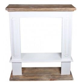 Фальш-камин Техас белый+натуральный  SS002592 Woodville