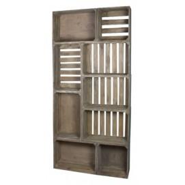 Шкаф открытый Амстердам серый SS002427 Woodville