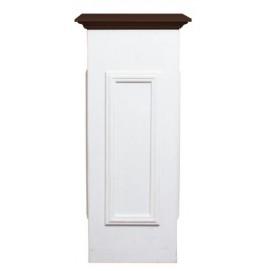 Тумба-подиум Лион бело-коричневая 60 см SS003215 Woodville