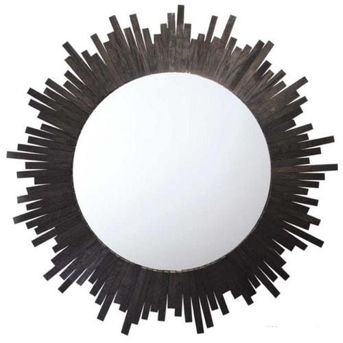 Зеркало в раме Солнце 50 см черное SS000471 Woodville