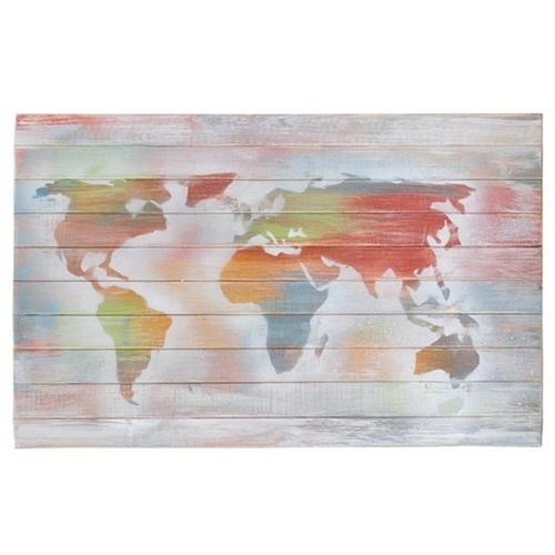 Панно настенное Карта цветное (80х50см) SS002530 Woodville