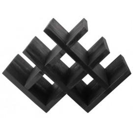 Подставка для вина Чикаго черная (42х29х20) SS001983 Woodville