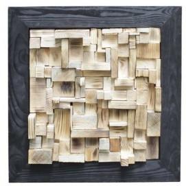 Панно настенное Куб черное 50х50 см SS000652 Woodville