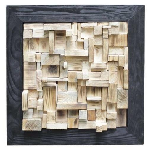 Панно настенное Куб черное 50х50 см SS000652 WilleWood