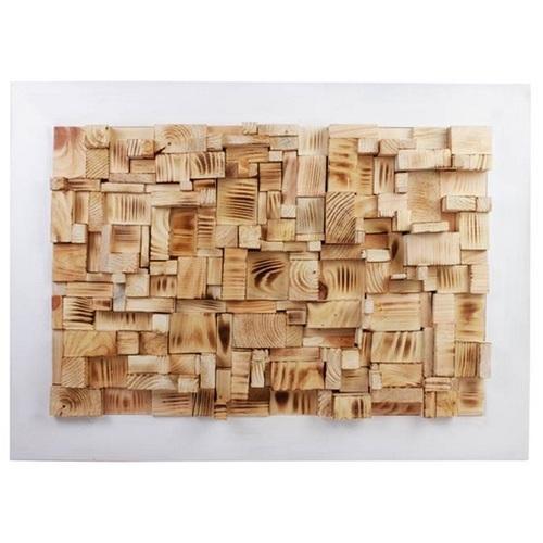 Панно настенное Куб белое 50х50 см SS000652 Woodville
