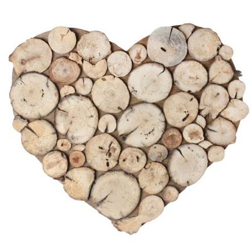Панно настенное «Сердце Вудвиль» 40 см натуральное SS002244 WilleWood
