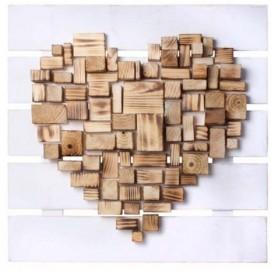 Панно настенное Сердце Пиксель белое SS002703 Woodville