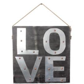 Панно настенное Детройт LOVE чёрное SS002719 Woodville