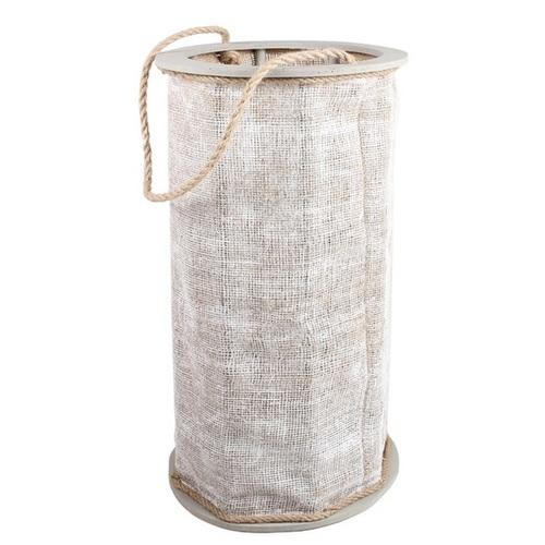 Фонарь свечной Сопот 50 см серый SS001383 Woodville