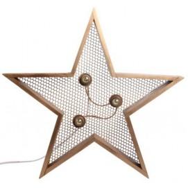 Светильник настенный Детройт Звезда 60 см натуральный SS002574 Woodville
