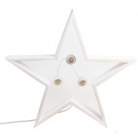 Светильник настенный Детройт Звезда 60 см белый SS002574 Woodville