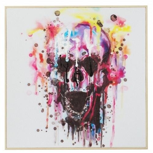 Картина Skull Rebel цветная 50x50cm (Z36732) Invicta
