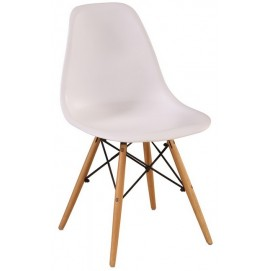 Стул Eams chair М-05 белый ноги дерево Verde