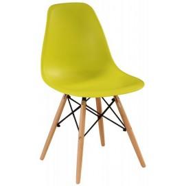 Стул Eams chair М-05 лайм ноги дерево Verde