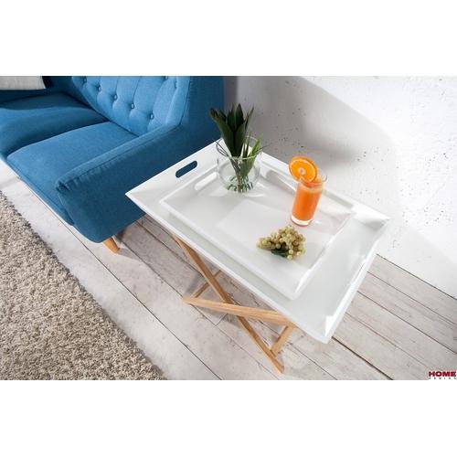 Стол сервировочный Igloo Wood 2  MDF 70cm (Z36438) белый Invicta
