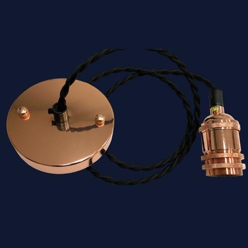 Лампа ретро шнур AMP14005-1 черная без лампочки Thexata
