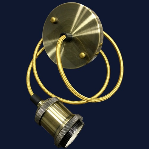 Лампа ретро шнур AMP11005-1 золото без лампочки Thexata