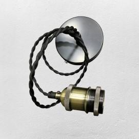 Лампа ретро шнур AMP12003-1 черная без лампочки Thexata