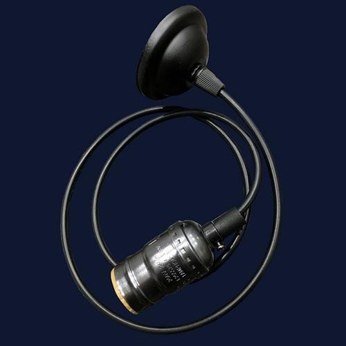 Лампа ретро шнур AMP33001-1 черная без лампочки Thexata